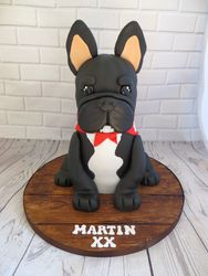 French Bulldog Birthday cake