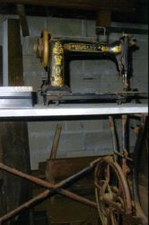 Antique sewing machine.