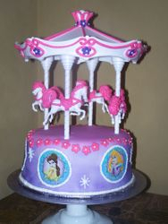 Disney Princess Carousel Cake