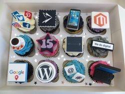 Company Birthday Cupcakes