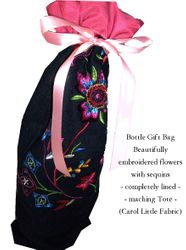 """Carol Little"" designer Fabric bottle bag"