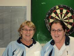 A Grade Ladies Singles Winner - Bev Davies & Runner Up Josephine O'Neil