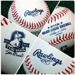 Stan Musial Memorial Baseball - Official Rawlings Game BB On Field 4/12/13