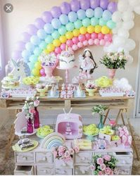 Rainbow party theme for babies