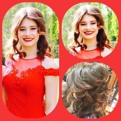 Stunning Soft half up down curls