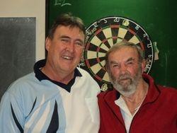 A Grade Mens Singles - Winner Bill Muncaster & Runner Up Bill Collier