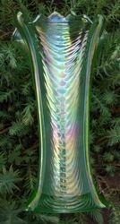 Drapery vase, in ice green