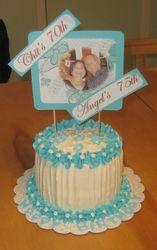 70th & 75th Birthday Cake