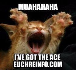 Muahahaha. I've got the ace.