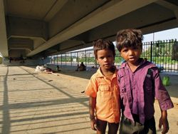 13 Conservative estimates suggest there are at least 50,000 street children in Delhi alone. These boys live with their parents under this flyover