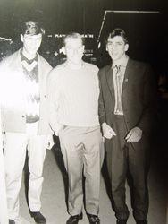 Teenage me (on left)