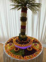 Four foot fruit palm tree with four foot fruit display