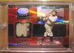Babe Ruth 2004 Donruss Playoff Leaf Certified Cuts Game Used Pants Card