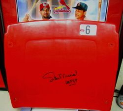 STAN MUSIAL AUTOGRAPHED OLD BUSCH STADIUM #6 SEAT