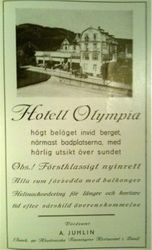 Hotell Olympia 1925