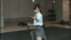Rina in action,Nunchucks at the ready