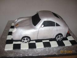 Cake 16A1 -Car Cake - A  Porsche