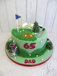 65th Birthday golf cake