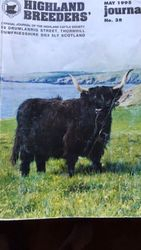 Philip progeny- Jean of Hungerhill pictured here on the cover of the 1995 Scottish Breeders Journal. Jean was the legendary black cow of her day.
