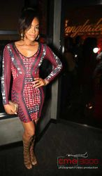 Demetria McKinney at Bangladesh's birthday celebration at STK Restaurant