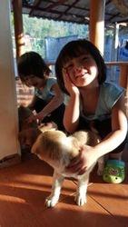 Doggie and girls