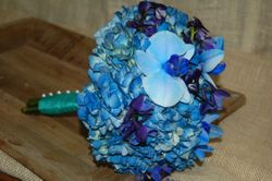Blue Hydrangea and Blue Dendrobium Orchid