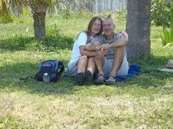 Ann and John in the Memorial Park
