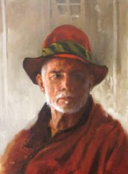 Self Portrait with a Red Hat