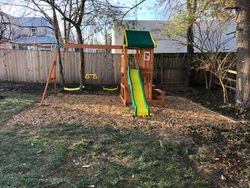 swing set installation completed in vienna VA