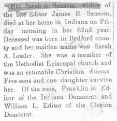 Sansom, Sarah Leader 1908