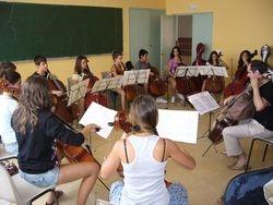 Conjunto de violonchelos con Aldo