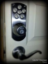 Numerical keypad deadbolt lock installation