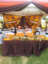 African themed wedding deco