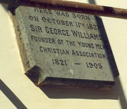 Plaque stone  of George William's birthplace