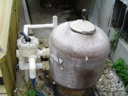 old pool sand filter