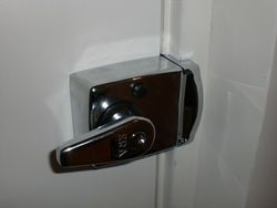 Standard night latch fitted