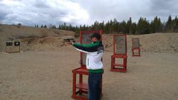 First time shooting a pistol
