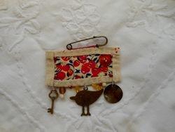 Hanging bird and key etc