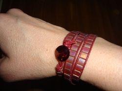 Tila Leather Wrap Bracelet (Design by Gail Wing)