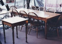 Large Harvest Table with Chairs