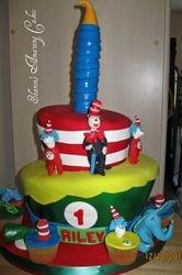 CAKE 22A1 -Dr. Seuss Cake & Cupcakes