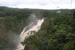 Waterfall from Skyrail at Kuranda near Cairns