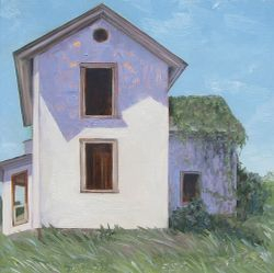 Carter Mtn. House study, oil/panel - sold