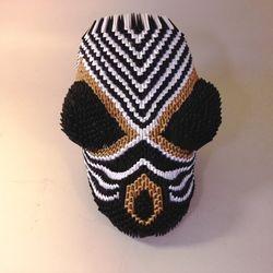 African Chevron Mask 16Hx12Wx6Din.