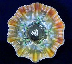 (Enameled) Single Flower(variant) 3 in 1 edge bowl, peach opal