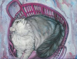 Maynard in Pink Basket