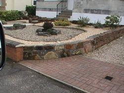 Concrete plinth & mono bock