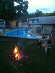 Fire by the Pool