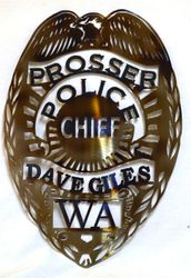Customized Police badge