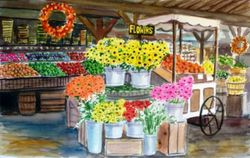 Flower Cart at Avila Barn